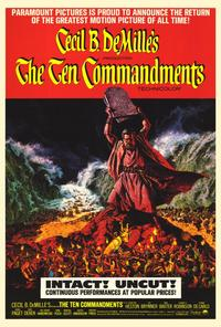 The Ten Commandments - 27 x 40 Movie Poster - Style B