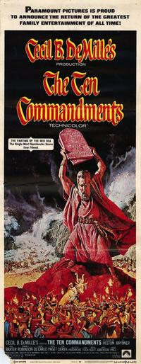 The Ten Commandments - 14 x 36 Movie Poster - Insert Style A