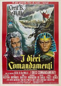 The Ten Commandments - 27 x 40 Movie Poster - Italian Style A