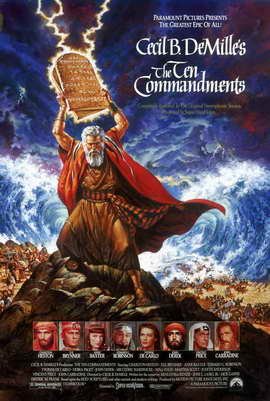 The Ten Commandments - 11 x 17 Movie Poster - Style D