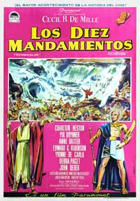 The Ten Commandments - 11 x 17 Movie Poster - Spanish Style A