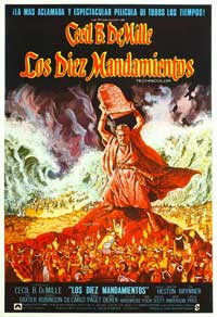 The Ten Commandments - 27 x 40 Movie Poster - Spanish Style B