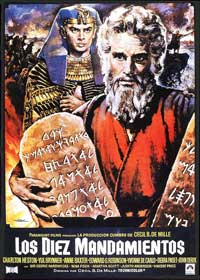 The Ten Commandments - 11 x 17 Movie Poster - Spanish Style C