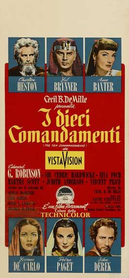The Ten Commandments - 13 x 28 Movie Poster - Italian Style A
