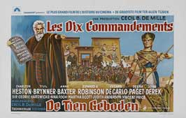 The Ten Commandments - 11 x 17 Movie Poster - Belgian Style B