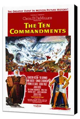 The Ten Commandments - 11 x 17 Movie Poster - Style B - Museum Wrapped Canvas