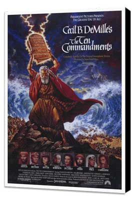 The Ten Commandments - 27 x 40 Movie Poster - Style A - Museum Wrapped Canvas