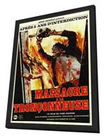 The Texas Chainsaw Massacre - 11 x 17 Movie Poster - French Style A - in Deluxe Wood Frame
