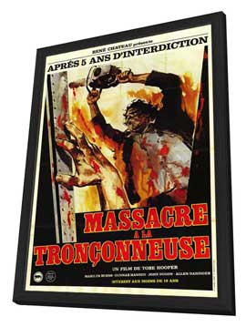The Texas Chainsaw Massacre - 27 x 40 Movie Poster - French Style A - in Deluxe Wood Frame