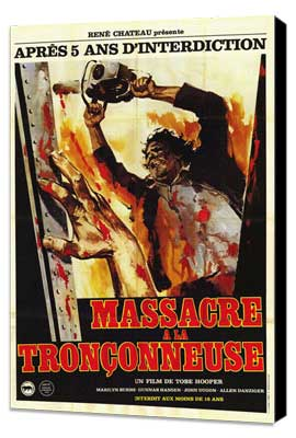 The Texas Chainsaw Massacre - 11 x 17 Movie Poster - French Style A - Museum Wrapped Canvas