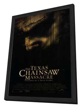 The Texas Chainsaw Massacre - 27 x 40 Movie Poster - Style A - in Deluxe Wood Frame