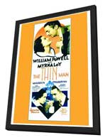 The Thin Man - 27 x 40 Movie Poster - Style A - in Deluxe Wood Frame
