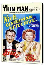 The Thin Man - 11 x 17 Movie Poster - Style C - Museum Wrapped Canvas