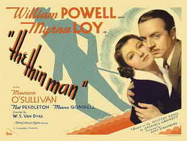 The Thin Man - 30 x 40 Movie Poster UK - Style A