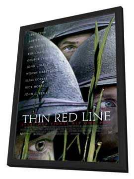 The Thin Red Line - 27 x 40 Movie Poster - Style A - in Deluxe Wood Frame