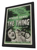 The Thing from Another World - 27 x 40 Movie Poster - Style C - in Deluxe Wood Frame