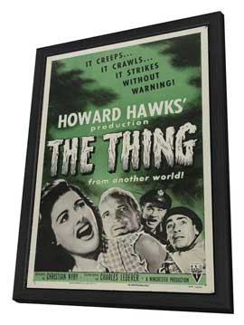 The Thing from Another World - 11 x 17 Movie Poster - Style C - in Deluxe Wood Frame