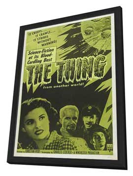 The Thing from Another World - 27 x 40 Movie Poster - Style D - in Deluxe Wood Frame