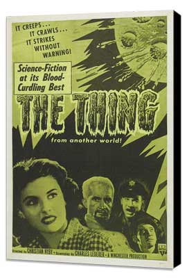 The Thing from Another World - 27 x 40 Movie Poster - Style D - Museum Wrapped Canvas