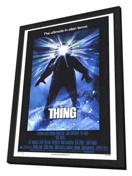 The Thing - 27 x 40 Movie Poster - Style A - in Deluxe Wood Frame