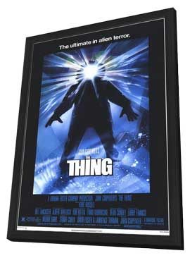 The Thing - 11 x 17 Movie Poster - Style A - in Deluxe Wood Frame