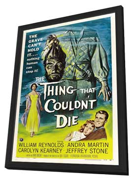 The Thing That Couldn't Die - 11 x 17 Movie Poster - Style A - in Deluxe Wood Frame