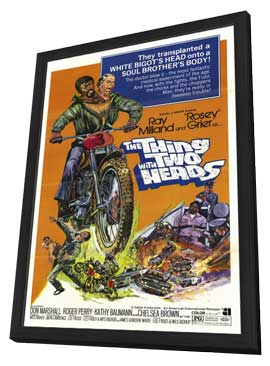 The Thing with Two Heads - 27 x 40 Movie Poster - Style A - in Deluxe Wood Frame