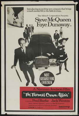 The Thomas Crown Affair - 27 x 40 Movie Poster - Australian Style A