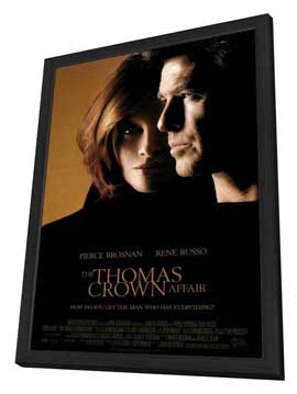 The Thomas Crown Affair - 27 x 40 Movie Poster - Style A - in Deluxe Wood Frame