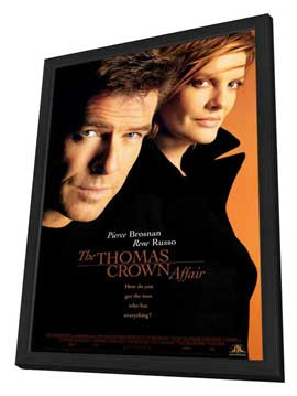 The Thomas Crown Affair - 27 x 40 Movie Poster - Style B - in Deluxe Wood Frame