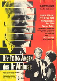 The Thousand Eyes of Dr. Mabuse - 27 x 40 Movie Poster - German Style A