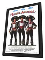 Three Amigos - 27 x 40 Movie Poster - Style A - in Deluxe Wood Frame