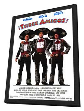Three Amigos - 11 x 17 Movie Poster - Style A - in Deluxe Wood Frame