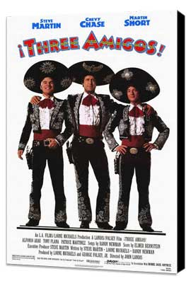 Three Amigos - 11 x 17 Movie Poster - Style A - Museum Wrapped Canvas