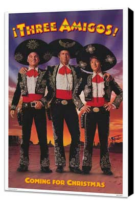 Three Amigos - 11 x 17 Movie Poster - Style B - Museum Wrapped Canvas