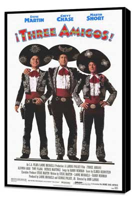 Three Amigos - 27 x 40 Movie Poster - Style A - Museum Wrapped Canvas