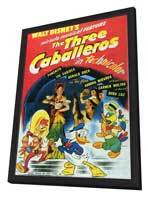 Three Caballeros, The - 27 x 40 Movie Poster - Style A - in Deluxe Wood Frame