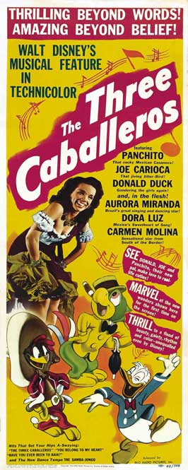 Three Caballeros, The - 14 x 36 Movie Poster - Insert Style A