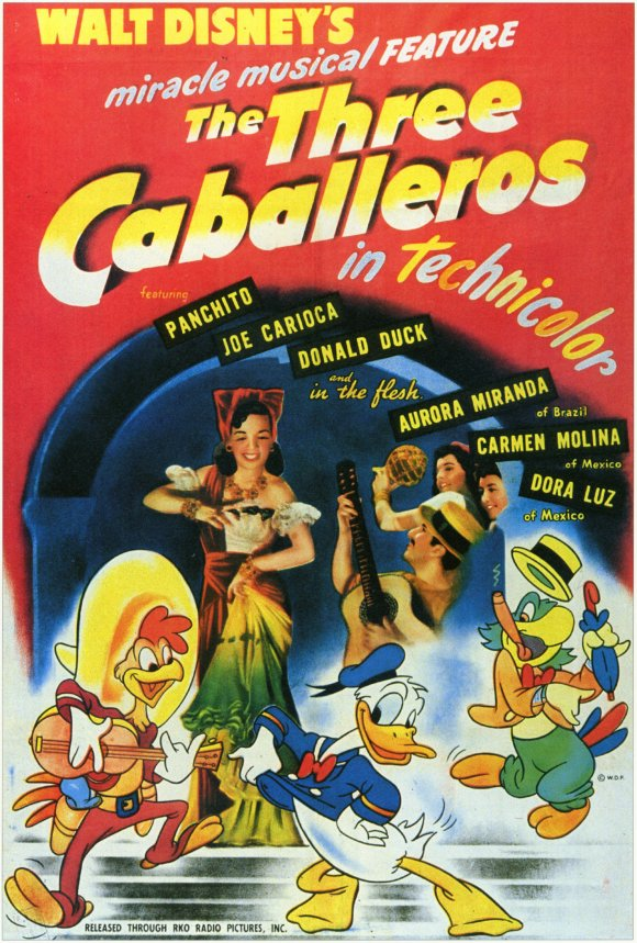 Image result for the three caballeros poster