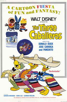 The Three Caballeros - 11 x 17 Movie Poster - Style A