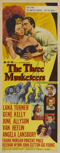 The Three Musketeers - 14 x 36 Movie Poster - Insert Style A
