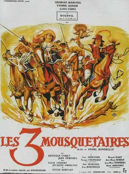 The Three Musketeers - 11 x 17 Movie Poster - French Style A
