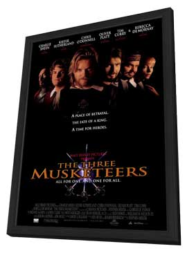 The Three Musketeers - 27 x 40 Movie Poster - Style A - in Deluxe Wood Frame