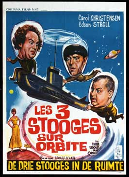 The Three Stooges in Orbit - 11 x 17 Movie Poster - Belgian Style A