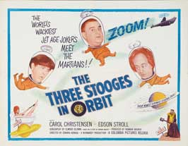 The Three Stooges in Orbit - 22 x 28 Movie Poster - Half Sheet Style A