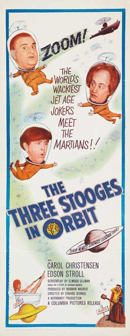 The Three Stooges in Orbit - 14 x 36 Movie Poster - Insert Style A