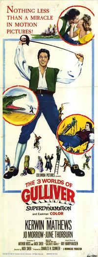 The Three Worlds of Gulliver - 14 x 36 Movie Poster - Insert Style A