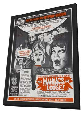 Thrill Killers, The - 11 x 17 Movie Poster - Style A - in Deluxe Wood Frame