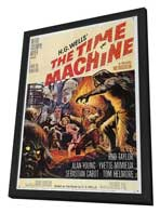 The Time Machine - 11 x 17 Movie Poster - Style A - in Deluxe Wood Frame