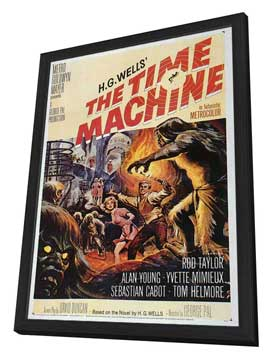 The Time Machine - 27 x 40 Movie Poster - Style A - in Deluxe Wood Frame